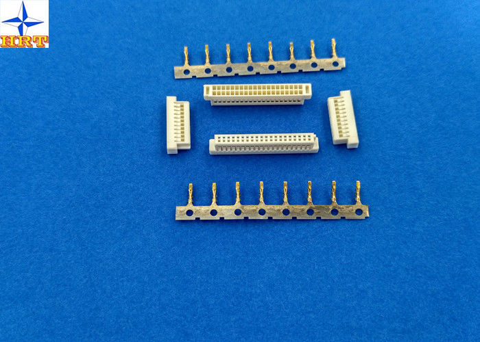 Dual Row Wire To Pcb Connectors 1.0mm Pitch Connector A1004H Housing With Bump